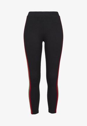 Leggings - Trousers - black/firered/green
