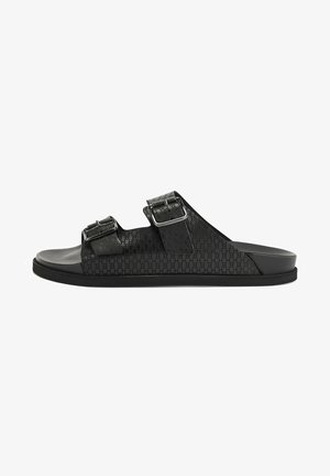 CLIFF_SAND_LTHB - Pantolette flach - black