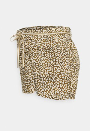LEOPARD - Shorts - dull gold