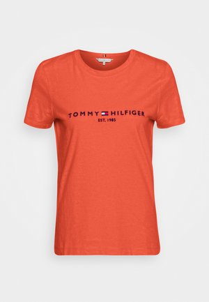 Print T-shirt - oxidized orange