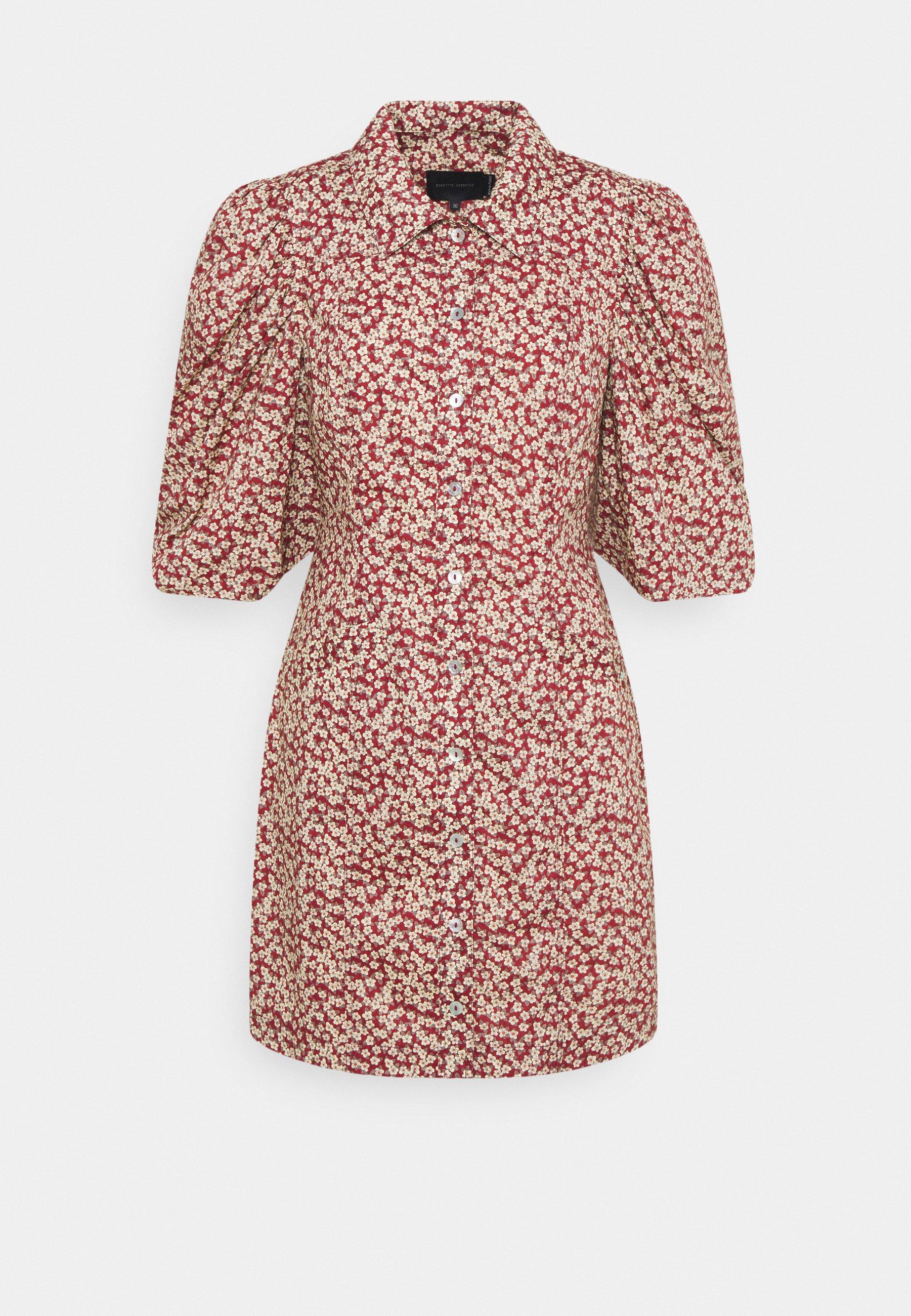 Women AMI DRESS - Shirt dress - rust