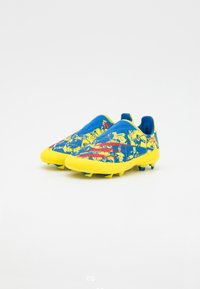 adidas Performance - X GHOSTED.3 LL FG UNISEX - Moulded stud football boots - blue/vivid red/yellow - 1