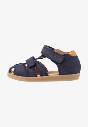 PIKA SCRATCH - Sandali - navy/wood