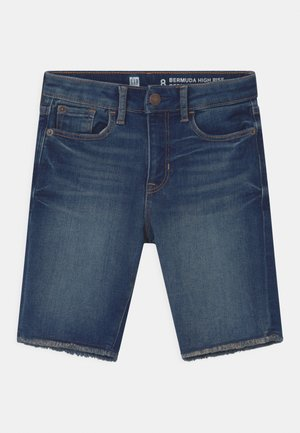 GIRL BERMUDA - Denim shorts - blue denim
