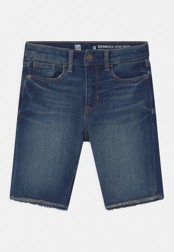 GIRL BERMUDA - Denim shorts - blue denim