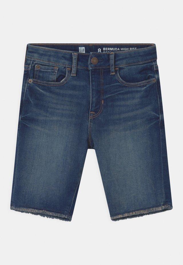 GIRL BERMUDA - Shorts vaqueros - blue denim