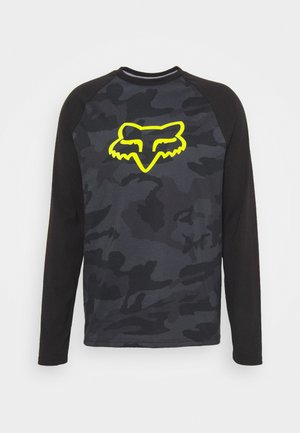 TOURNAMENT CAMO TECH TEE - Maglietta a manica lunga - black