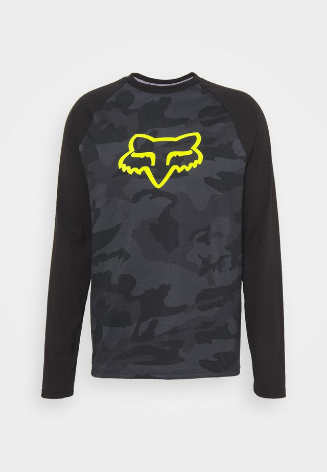 TOURNAMENT CAMO TECH TEE - Long sleeved top - black