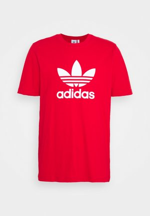 TREFOIL UNISEX - T-shirt med print - scarlet/white