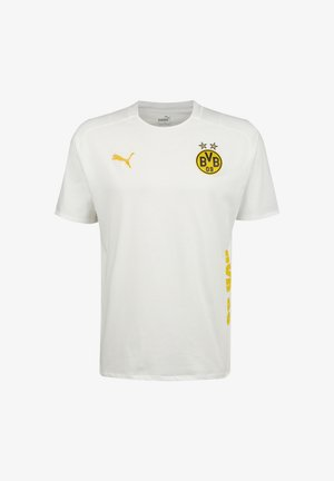 BORUSSIA DORTMUND BVB CASUALS - Print T-shirt - puma white / cyber yellow