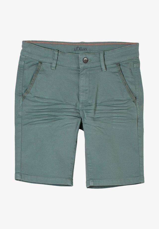 REGULAR FIT - Shorts - petrol