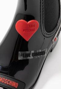 Love Moschino - RAIN LOVE TAG - Wellies - black - 2