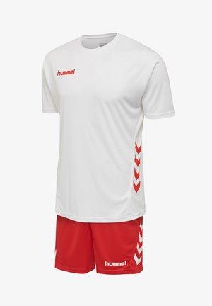 Sports shorts - white/true red