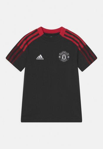 MANCHESTER UNITED TEE UNISEX - Club wear - black