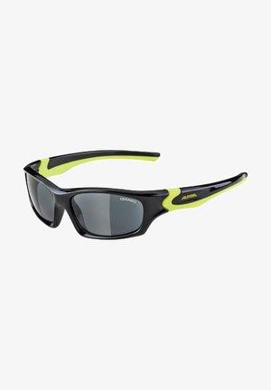 Sunglasses - black-neon yellow