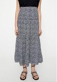 PULL&BEAR - Maxi skirt - black - 0