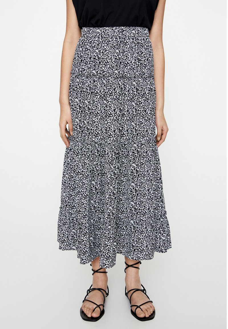 PULL&BEAR - Maxi skirt - black