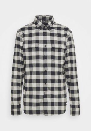 CHECKERED RIDGE LONG SLEEVE - Shirt - stone gray