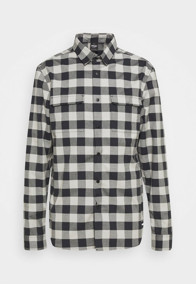 CHECKERED RIDGE LONG SLEEVE - Overhemd - stone gray
