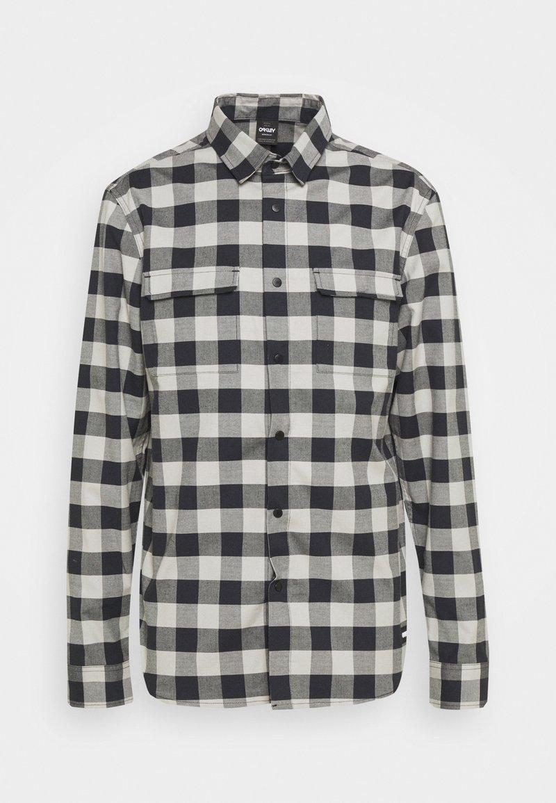 Oakley - CHECKERED RIDGE LONG SLEEVE - Shirt - stone gray
