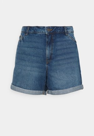 NMSMILEY - Denim shorts - medium blue denim