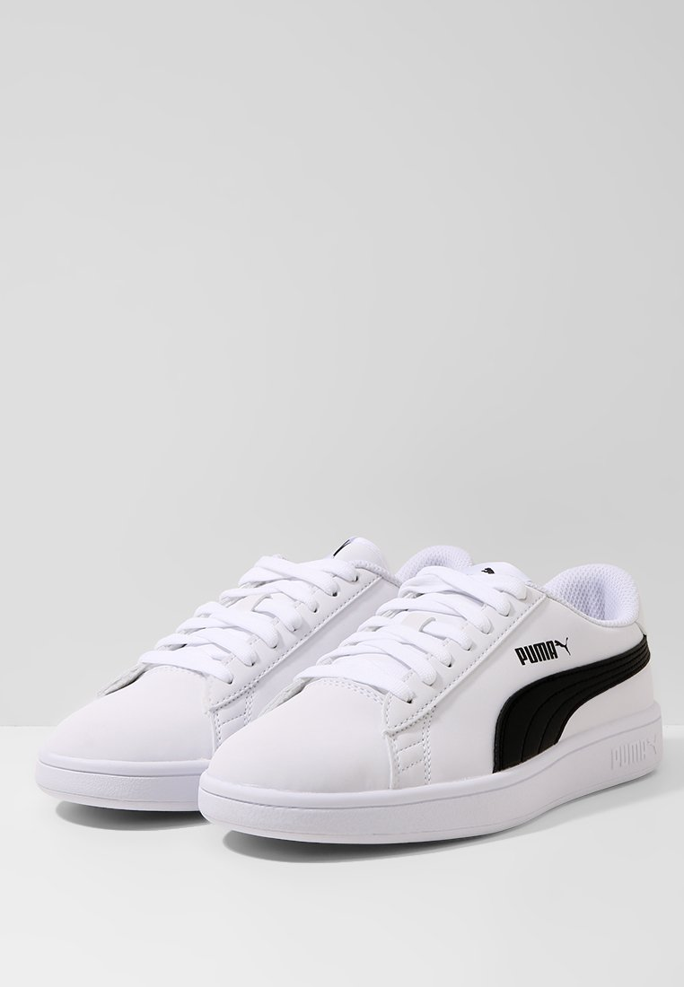 SMASH UNISEX - Baskets basses - puma white/puma black
