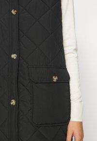 ONLY - ONLNAYRA LONG QUILT VEST - Waistcoat - black - 5