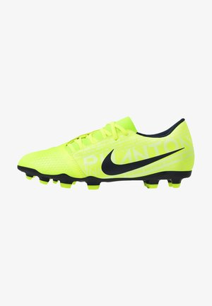 PHANTOM CLUB FG - Moulded stud football boots - volt/obsidian/barely volt