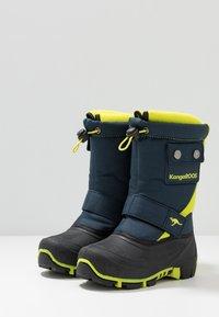 KangaROOS - BEAN - Zimní obuv - darkk navy/lime - 3