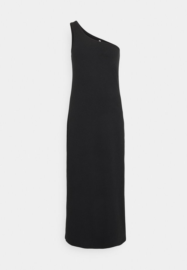 BEACH EDIT ONE SHOULDER MIDI - Jersey dress - black