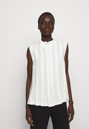 KNIFE PLEATING TANK - Blouse - ivory