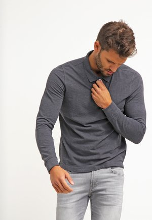 Polo - dark grey melange