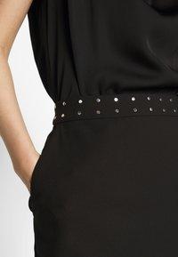 HUGO - RIATA - Áčková sukně - black - 4