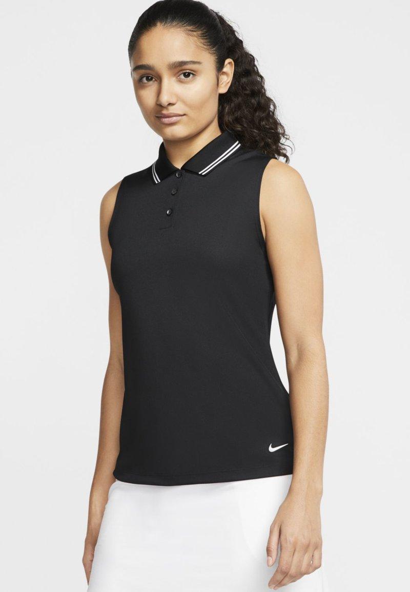 Nike Golf - DRY VICTORY - Sports shirt - black/white
