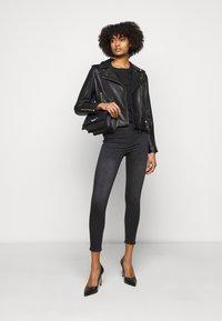 LIU JO - CHIODO - Leather jacket - nero - 1