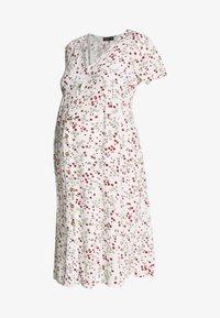 MATERNITY BUTTON FRONT MIDI DRESS - Jerseykjoler - gardenia