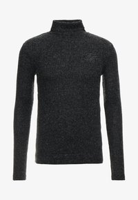 SIKSILK - ROLL NECK JUMPER - Maglione - black - 3