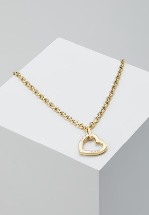 HEARTED CHAIN - Naszyjnik - gold-coloured