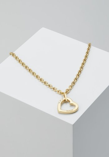 HEARTED CHAIN - Necklace - gold-coloured