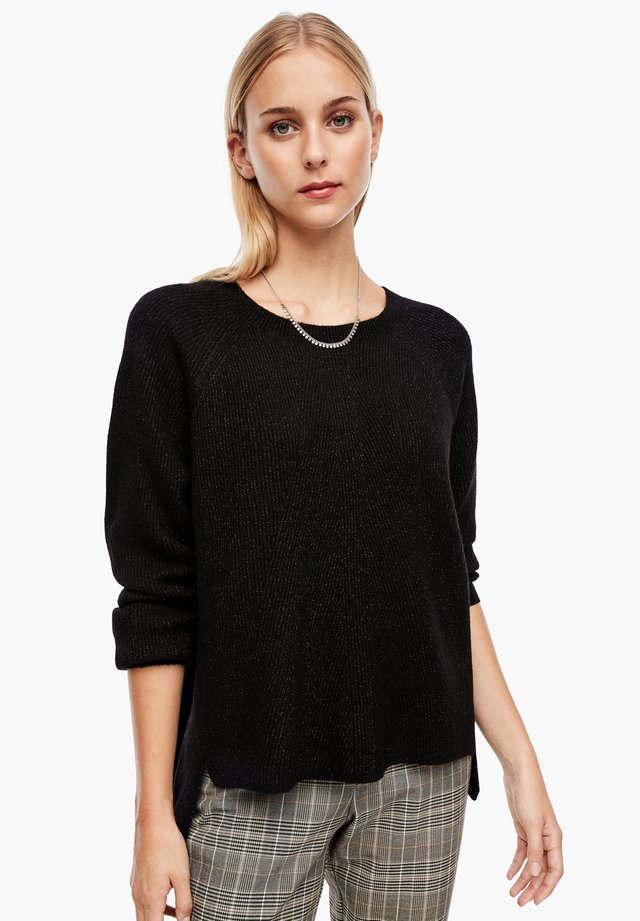 AUS GLITZER-STRUKTURSTRICK - Maglione - black knit