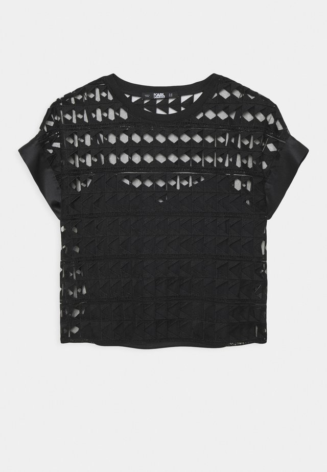 EMBROIDERED  - Print T-shirt - black