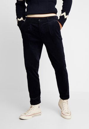 BLAKE CLASSIC CHINO WITH FIXED TURN UP - Trousers - navy