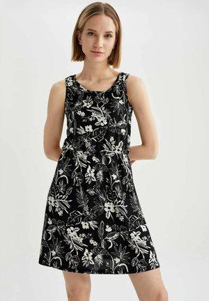 FLOWER PRINT - Day dress - black
