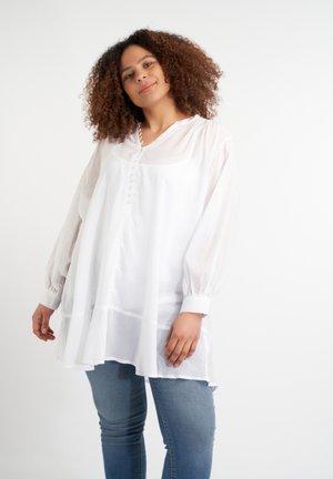 MET KNOOPJES - Tunic - white