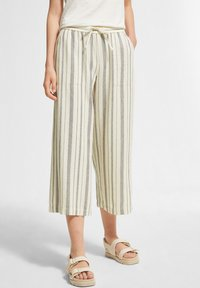 comma casual identity - Trousers - white woven stripes - 0