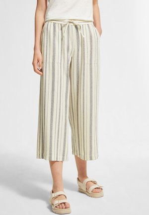 REGULAR FIT - Trousers - white woven stripes