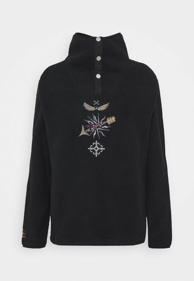 STEVIE FUNNEL NECK - Fleecepullover - true black