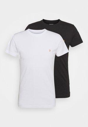 FARRIS 2 PACK - T-shirt - bas - white/black
