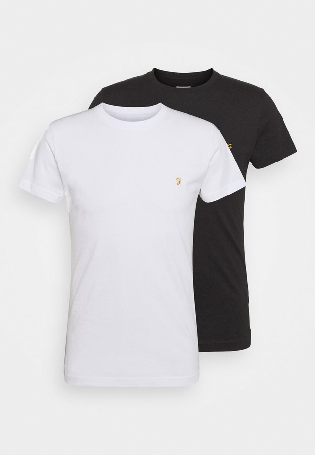 FARRIS 2 PACK - T-shirt basique - white/black