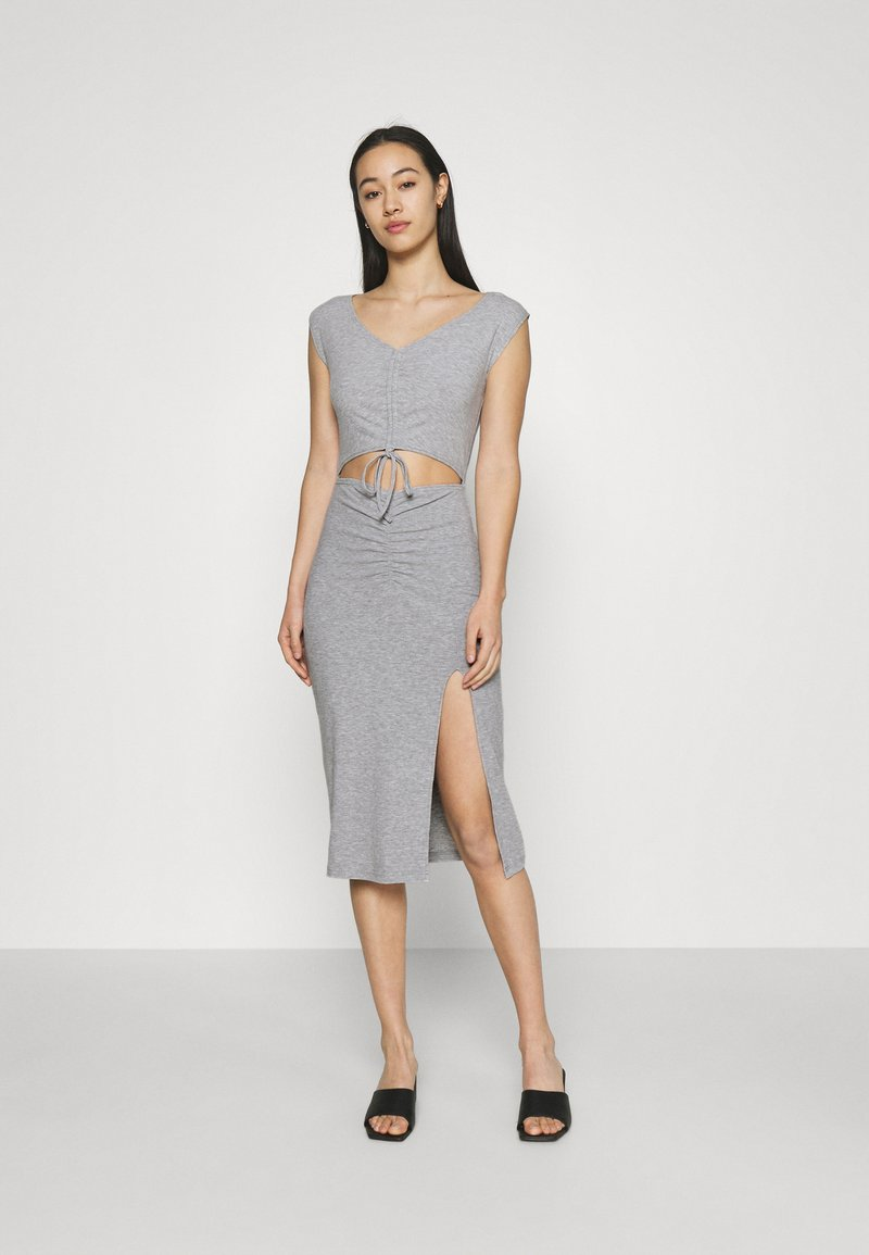 4th & Reckless - JETT DRESS - Vestido de tubo - grey